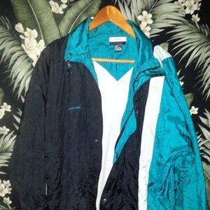 Men's Vintage Retro Style Track Jacket Size Large